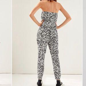 Black and white zebra jumpsuit